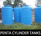 PENTA Reinforcement Cylinder tanks. Available in vertical and horizontal types