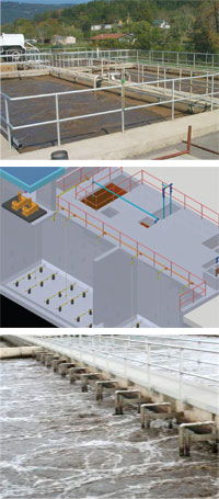 Waste water treatment plant system